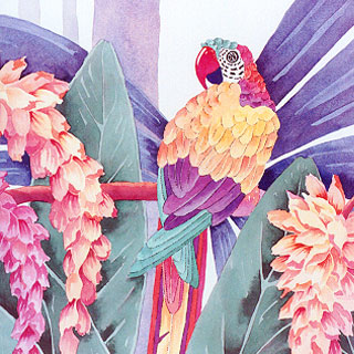 Margaretha Stramecki - Watercolors and Beaded Jewelry 85331