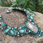Spirit of Dragonfly Hand Beaded Collar Necklace