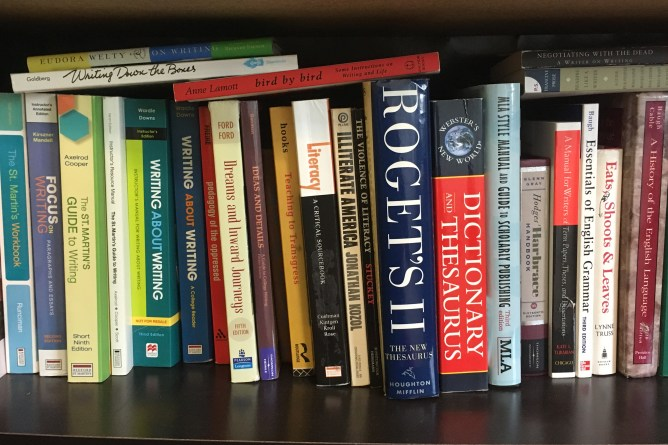 A Bookshelf of Writing Books