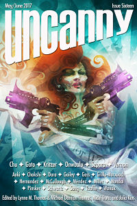 Magazine cover for Uncanny Magazine Issue 16