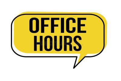 Office Hours Speech Bubble