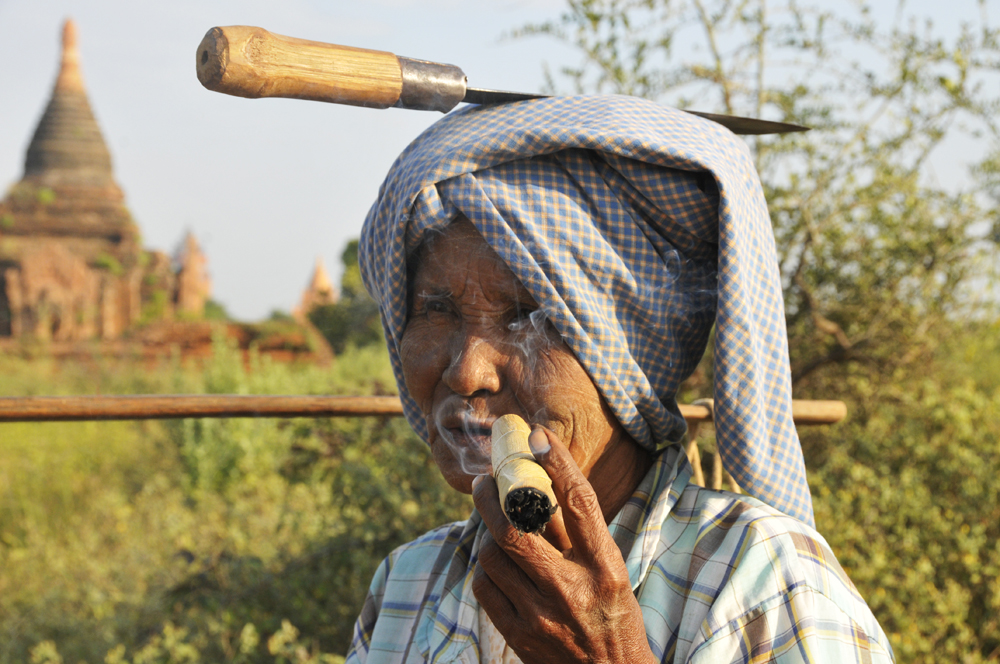 Woman with Knife and Cigar, Bagan, Myanmar 2011 - next picture
