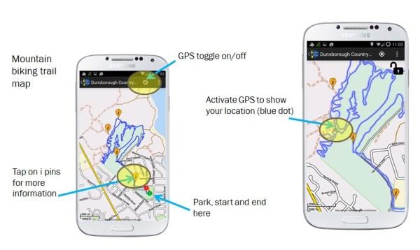 Map Screenshots Mountain Biking Margaret River
