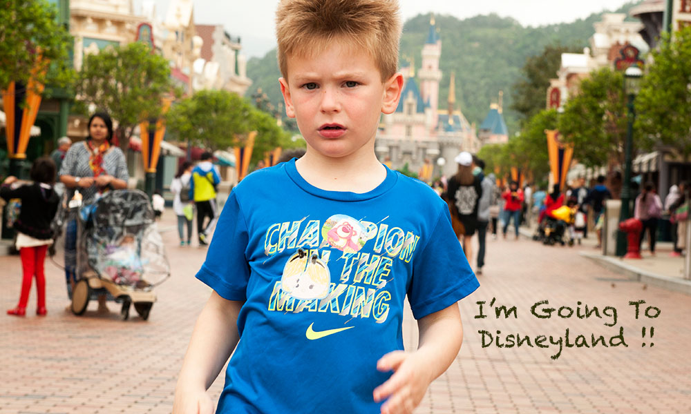 Colton at Disneyland