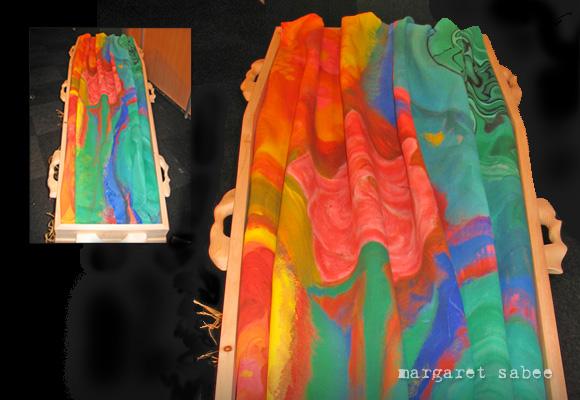 Koosjes wade van Margaret Sabee Weefkunst Den Haag.
