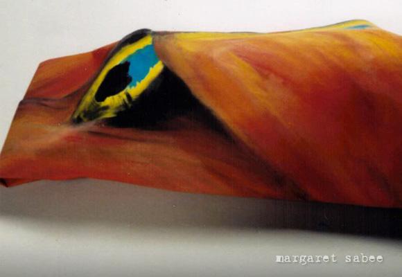 Dagpauwoogvlinder wade van Margaret Sabee Weefkunst Den Haag
