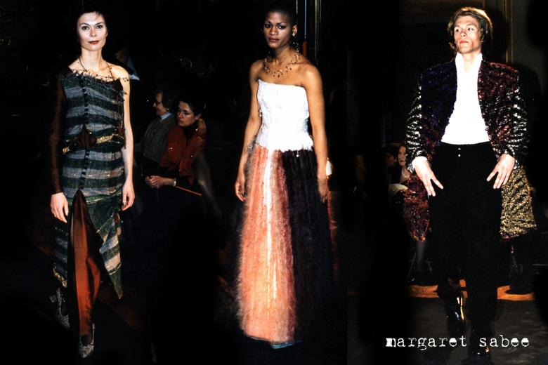 Modeshow met kleding van Margaret Sabee Weefkunst, Den Haag