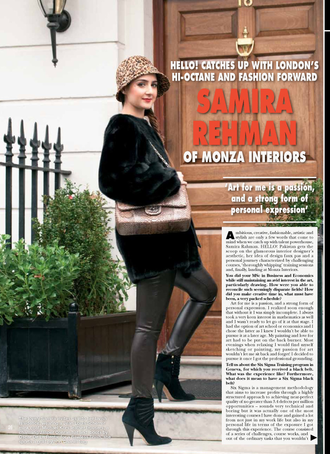 Photo: Hello Magazine, press, tear-sheet, editorial photography, by Margaret Yescombe, Photographer London