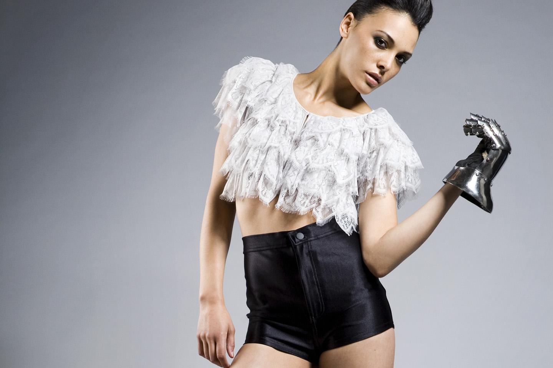 Photo: Editorial Fashion Photographer London Margaret Yescombe. Studio fashion photography, Mecia Models1, Britains Next Top Model BNTM