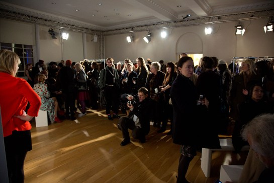 LFW Somerset House - Felicities PR Presents : Fashion Designers - fashion crowd bloggers photographers onlookers