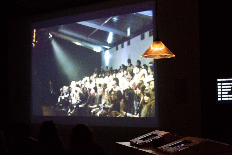 Fashion Designer Marios Schwab LFW catwalk screening at Somerset House