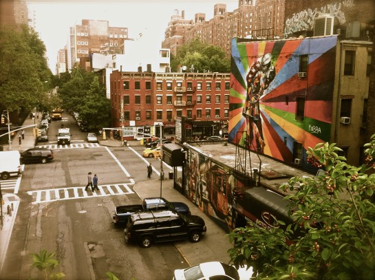 Photo: New York Streets Graffiti of Couple Kissing, by Margaret Yescombe Photography London