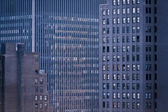 Photo: New York City Skyline Skyscrapers, concrete urban jungle, windows. Architectural photography by London Fashion and PR Photographer Margaret Yescombe