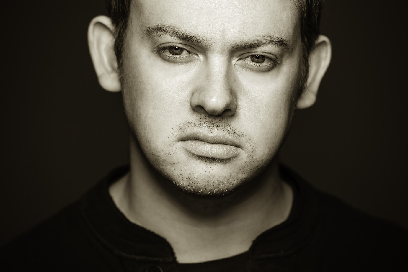 Photo: studio portraiture for award winning writer's PR. Photo-shoot in Hackney, East London