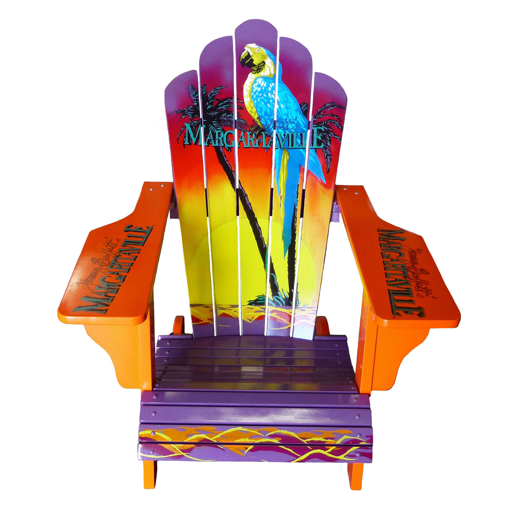 painted adirondack chairs tall folding directors chair sign logo margaritaville apparel store