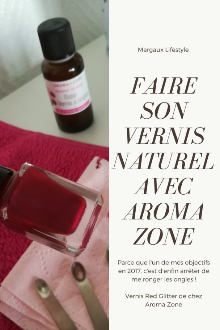 vernis naturel de chez aroma zone red glitter margaux lifestyle. Black Bedroom Furniture Sets. Home Design Ideas