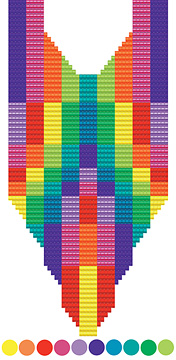 Color Blocks pattern available in Out On A Loom by Margie Deeb
