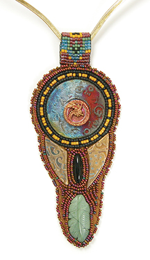 Heidi Kummlis Minoan Pendant from The Beaders Color Palette