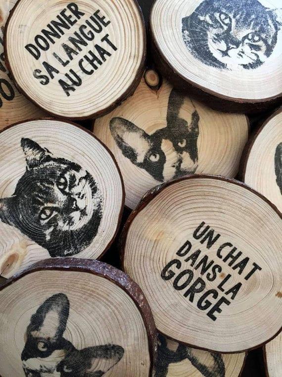 Joli et pratique à la fois: un sous-verre de chat Les Glaneuses