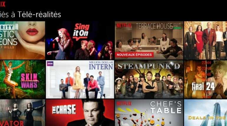 Télé-réalité Netflix