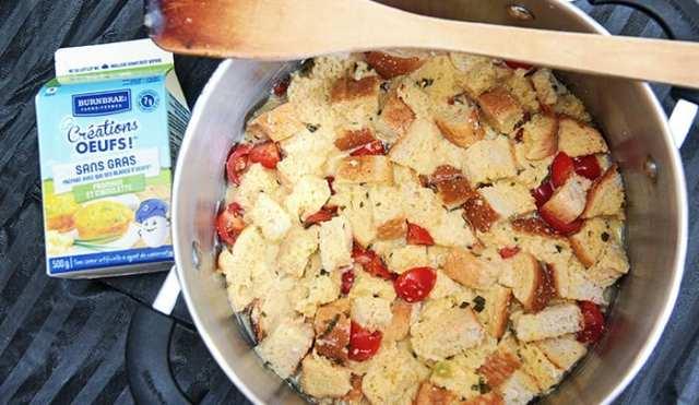 recette casserole d'oeufs pour le camping