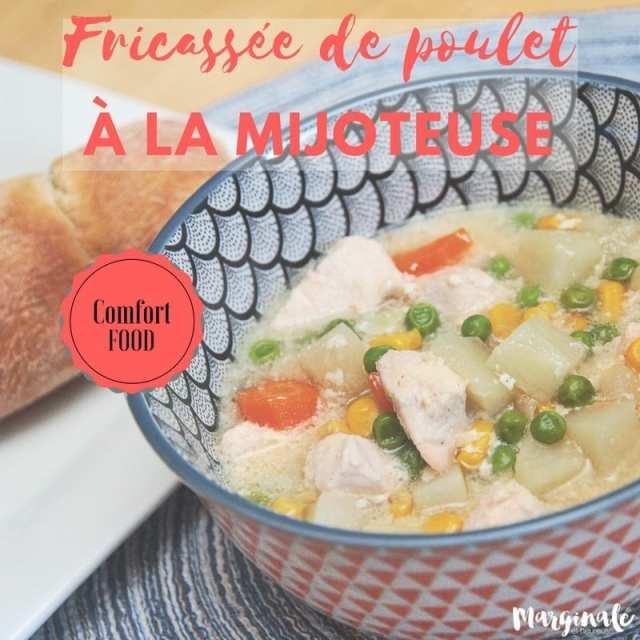 recettes à la mijoteuse fricassée de poulet