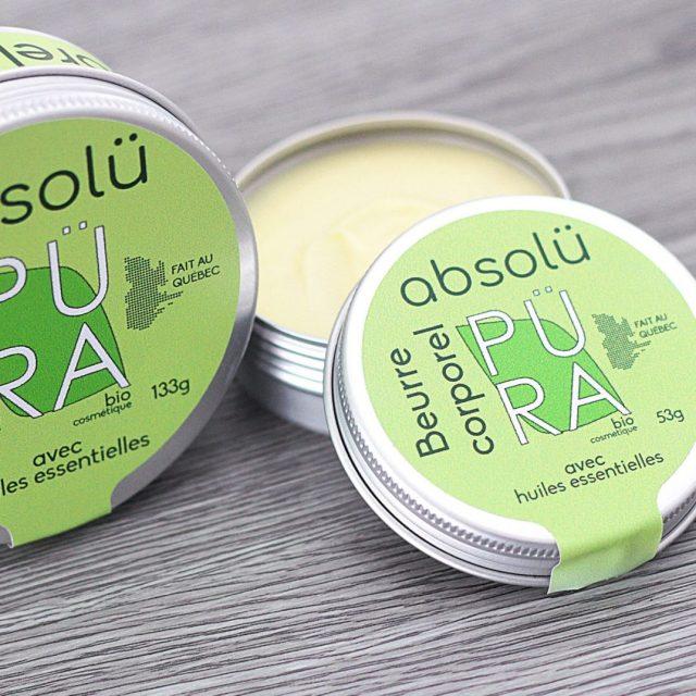 beurre corporel fait au Québec Püra biocosmétique
