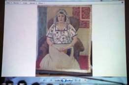 Седнала жена. Анкри Матис, около 1924 г.
