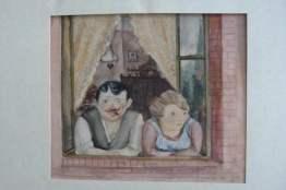 Мъж и жена на прозореца, Вилхелм Лахнит, 1923 г.