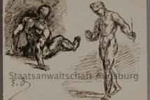 Двама мъже, Йожен Делакроа. Снимка от прокуратурата в Аугсбург.
