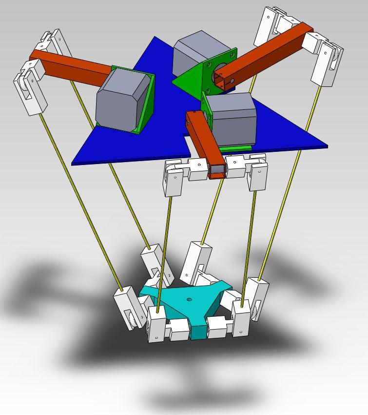 Building a Delta Robot: 3D model version 2 – Marginally