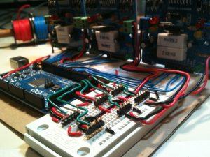 Stewart platform wiring, perspective