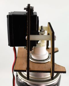 spray nozzle laser cut birch prototype side