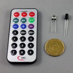 IR remote + sensor