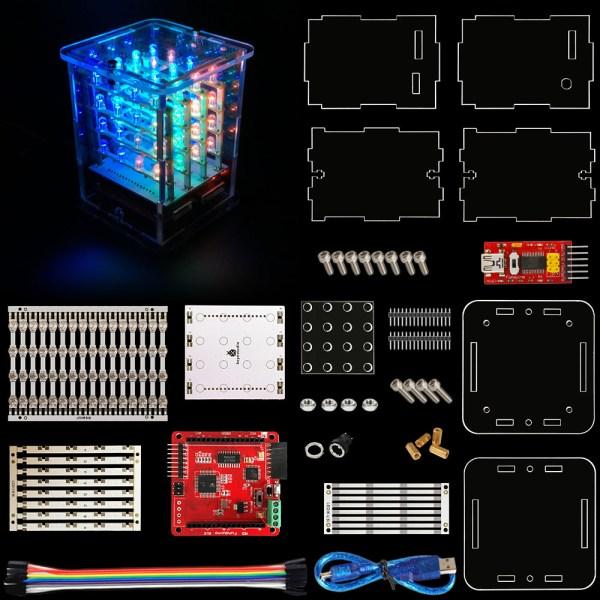 ELEC-0129 4x4x4 RGB LED cube