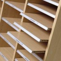 Single Pigeon Hole Cabinet - White   Margolis Furniture