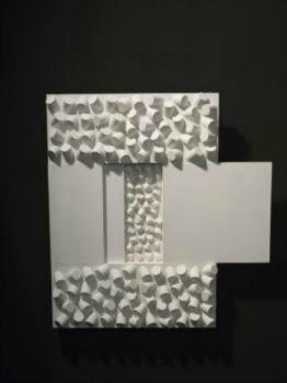 Anna Broussous - Eveil - peinture bois laqué blanc 70 x 50 cm - Anna Broussous
