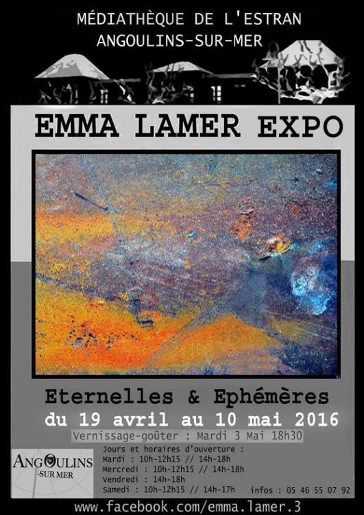 Emma Lamer exposition Médiathèque d'Angoulins