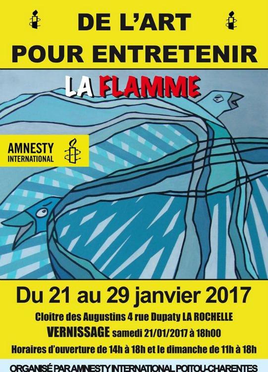 De l'Art pour entretenir la flamme du 21 au 29 janvier à La Rochelle