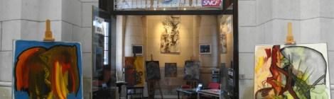 Expos et Art en Gare, Martine Buera Galerie Esquié La Rochelle du 10 au 16 juin 2017