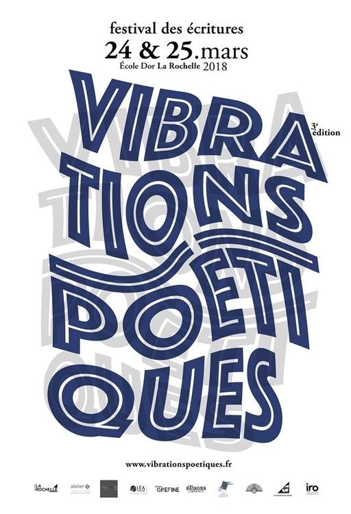 Affiche des Vibrations poétiques 2018