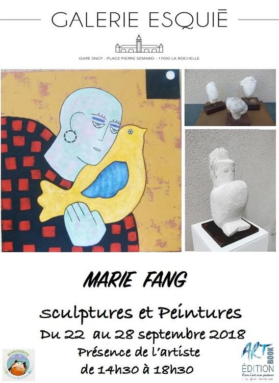 Art contemporain en gare de La Rochelle Marie Fang du 22 au 28 septembre 2018