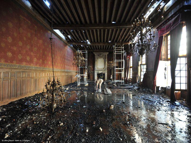 Incendie Hotel de Ville de la rochelle © Julien Chauvet, mairie de La Rochelle