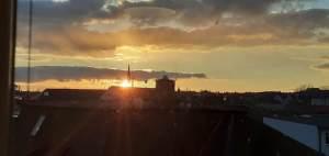 Sonnenuntergang über Plauen