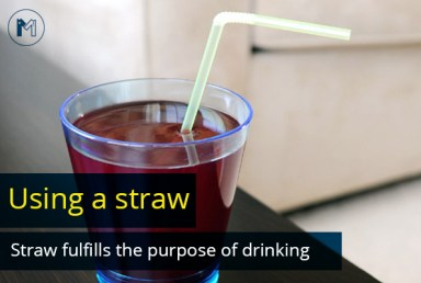 Using a straw