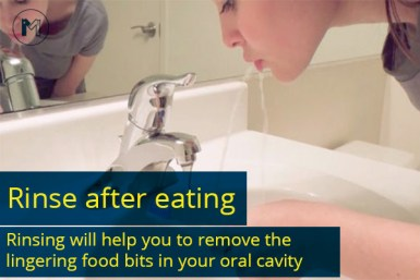 Rinse after eating