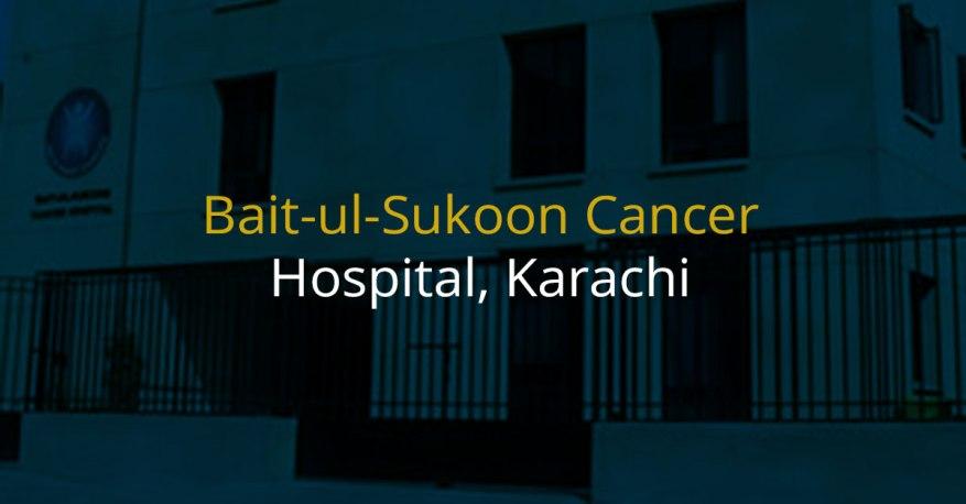 bait ul sakoon cancer hospital