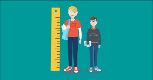 increase in height