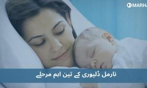 نارمل ڈلیوری کے تین اہم مرحلے ، نئی ماؤں کے لیۓ جاننا ضروری
