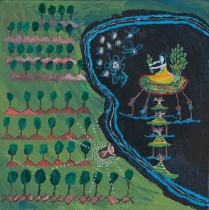 Acrylilc on canvas. 19,8x19,7cms 2012